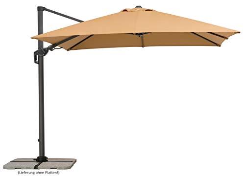 Schneider Schirme Sonnenschirm Rhodos Twist, sand, ca. 300 x 300 cm, 8-teilig, quadratisch