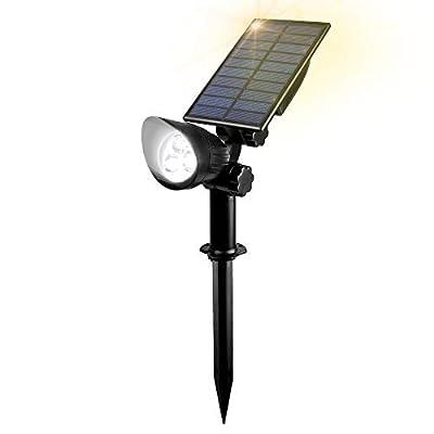 AUMIO Solar Landscape Spotlights Solar Lights Outdoor Waterproof Wireless LED Landscape Lighting, Adjustable Solar Wall Lights