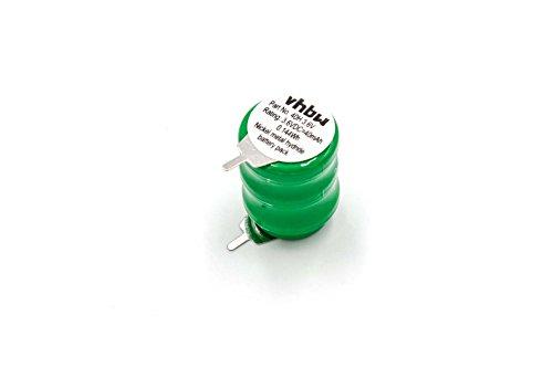 vhbw Knopfzellen Akku Typ V40H (NiMH, 40mAh, 3.6V) - Säule mit 3 Zellen, 2 Pins Printanschluss, wiederaufladbar