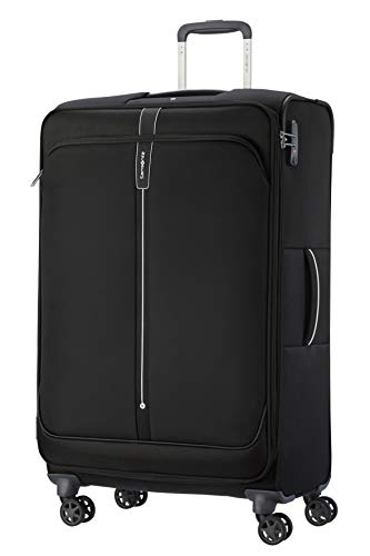 Samsonite Popsoda Luggage- Suitcase, Spinner L Expandable (78 cm - 112.5 L), Black (Black)