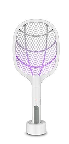 LVYE1 MRMF Lámpara LED para Matar Mosquitos 3000V Eléctrica Bug Zapper Insect Killer USB Recargable Fly Swatter Trampa Anti Mosquitos