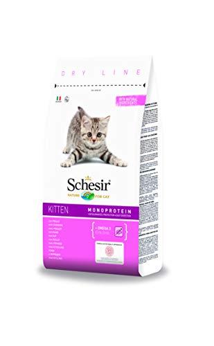 Schesir Cat Kitten Kattenvoer droog hypoallergeen voor jonge katjes met bio kip/kip, rijk aan eiwitten, verschillende maten (8 x 400 g / 1,5 kg / 10 kg), 10 kg