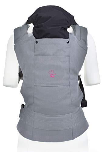 Multi Power Babytrage (grau), Komfortable ergonomische GoldBaby Babytrage von 5.5 bis 20kg. 2-Tragepositionen: Bauchtrage und Rückentrage, niederländischen Babymarke