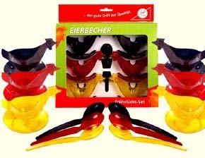 Ostprodukte-Versand.de Eierbecher Huhn 6Pack - DDR Geschenke - für Ostalgiker - Ossi Artikel