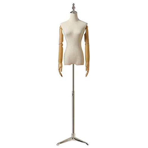 Schneiderpuppe Weiblich Kleidung für Erwachsene Ausstellungsstand für Damenrock/Kleider/Anzüge, Weibliche Schaufensterpuppe Schneider Dummy mit Armen und Verstellbarer Basis