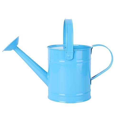 NICEXMAS Regadera de Metal Regadera Simple para Niños de 1.5L Cubo de Riego de Jardín para Niños Lata de Riego de Hierro Hervidor de Agua para Jardín de Plantas de Jardín de Flores (Color Aleatorio)