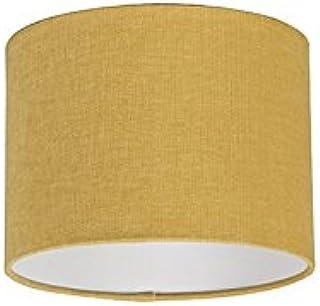 QAZQA Moderno Algodón y poliéster Pantalla tela amarillo maíz 20/20/15 cilindro, Redonda/Cilíndrica Pantalla lámpara colgante,Pantalla lámpara de pie