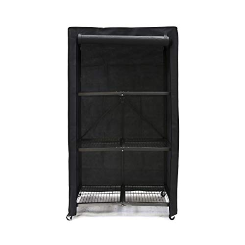 Origami Fabric Protection Cover for 4-Shelf Large Storage Rack - Black