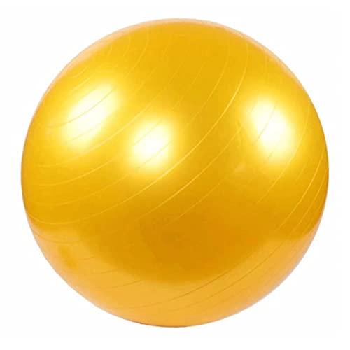 WTSMJD Yoga Pilates Pelota Anti-Estallido Balance Ejercicio Pelota Gimnasio, Entrenamiento, Estabilidad, Fitness, Fisioterapia, Embarazo Y Parto, Silla Oficina En Casa,Amarillo,20cm