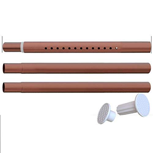 Metalen raamgordijnroede zonder boren, verlengt van 144 tot 164 inch douchegordijnroede extra lange gordijnroede Mute Heavy Duty Telescopische staaf