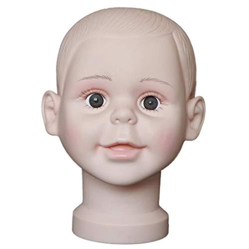 Hellery Tete de Mannequin en PVC, Modele de Poupée, Fabrication de Perruque, Affichage de Chapeau - S