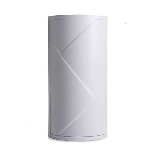 XJYJF Estante de almacenamiento para baño, estante giratorio para colgar en la pared, sin perforación, gabinete de esquina de baño, estante de almacenamiento (color: gris, tamaño: grande)