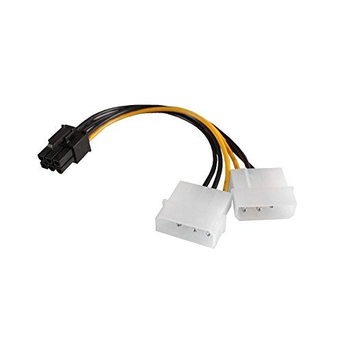 Vultech SC10903 Molex to PCI Express Cavo Adattatore Alimentazione, 6 Pin, 15 cm, Multicolore