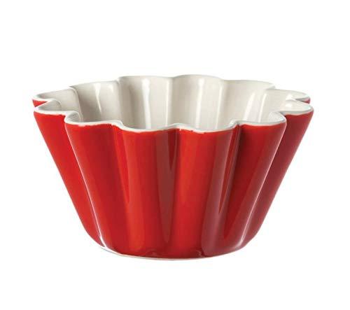 PORCELLANA Arezzo Pudding Bol cm 11, Porcelaine, Rouge, 0.1 x 0.1 x 0.1 cm
