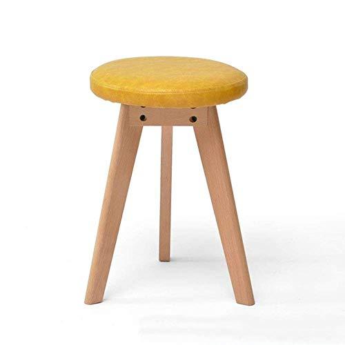 YLCJ kruk/kruk/kruk/kruk/kruk/kruk/kruk, gestoffeerd, voetensteun, 3 voeten, ronde zitzak, stofbescherming (kleur: geel) Geel