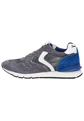 VOILE BLANCHE Sneakers Uomo 1b35 Grigio-Bluette (43 EU)