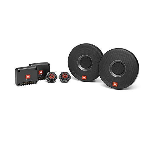 JBL Club 605CSQ 2-Wege Auto Soundsystem - 285 Watt Komponenten Auto Lautsprecher Boxen Set mit 160mm Carbon KFZ Einbaulautsprecher, Silk Dome Hochtöner und Frequenzweichen