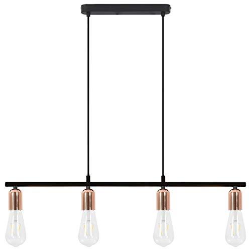 vidaXL Plafondlamp E27 Zwart Koperkleurig Plafondlicht Muurlamp Lamp Licht
