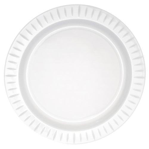 Party Essentials N1016817 Elegance Hard Plastic Round Dinner Plate, 10.25', Black (Case of 168)