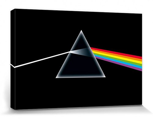 1art1 Pink Floyd - Dark Side of The Moon, Prism Cuadro, Lienzo Montado sobre Bastidor (120 x 80cm)
