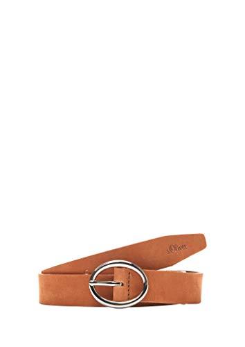s.Oliver Damen Ledergürtel im Vintage-Look brown 105