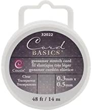 Cousin Beads Bulk Buy Craft and Jewelry Gossamer Stretch Cord .3 x .5mm 48 Feet/Spool Clear 32022 (6-Pack)