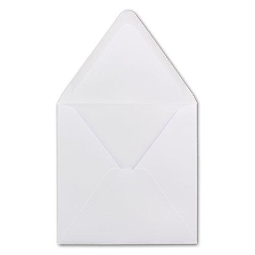 50 Quadratische Briefumschläge Weiß 15,0 x 15,0 cm 120 g/m² Nassklebung Post-Umschläge ohne Fenster ideal für Weihnachten Grußkarten Einladungen von Ihrem Glüxx-Agent