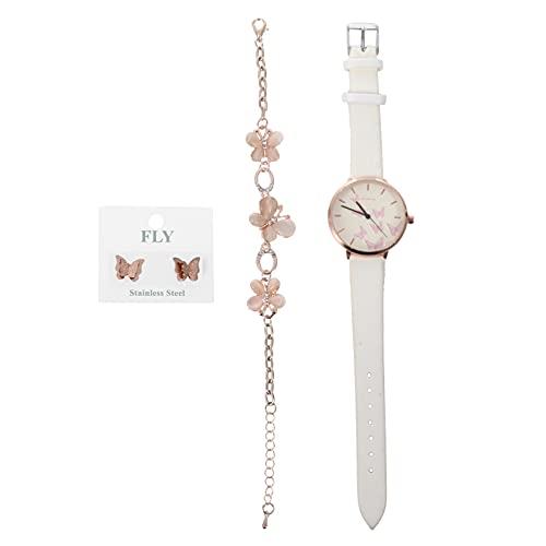 ABOOFAN 1 Juego de Relojes para Mujer Mariposas Pendientes de Reloj de Pulsera para Mujer Reloj de Cuarzo Regalo de Moda para Dama Mujer Niñas ()