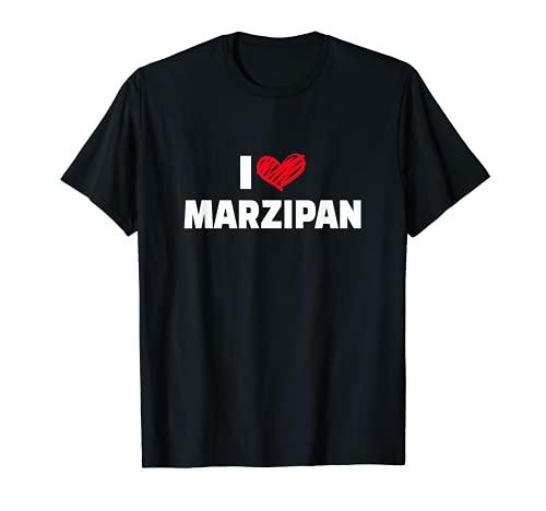 I love marzipan デザイン マジパン愛好家に Tシャツ