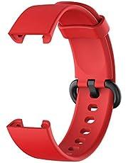GASF Orologi Cinturino, Silicone Braccialetto Di Ricambio, Compatible for Xiaomi Mi Watch Lite/redmi Watch Lite (Solo Cinturino, Orologio Non Incluso) - Nero