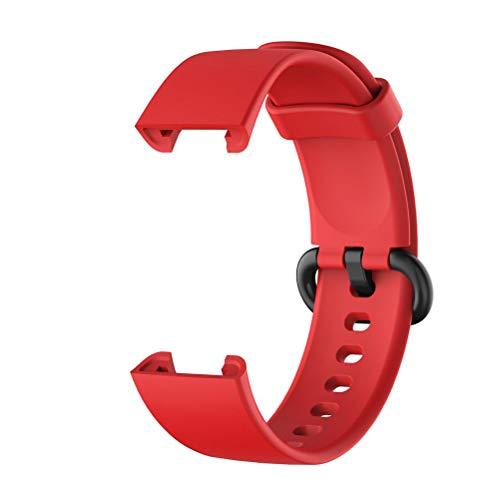WSTERAO Correa de Reloj, Correa de Repuesto, Correas de Silicona compatibles con el Reloj Inteligente xiaomi mi uhr Lite/redmi uhr Lite, Correa de Silicona Suave Ajustable, Pulsera de Accesorios
