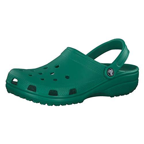 Crocs Classic, Zuecos Unisex Adulto, Deep Green, 37/38 EU