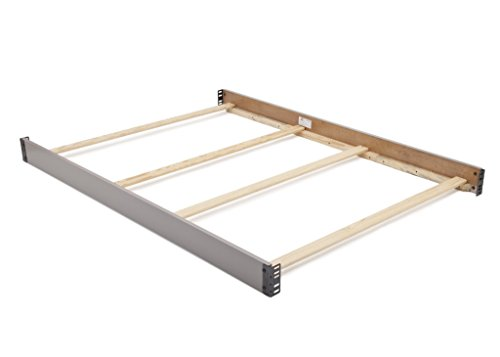 Full Size Conversion Kit Bed Rails for Rowen Crib by Delta Children & Simmons Slumbertime Furniture (Grey)
