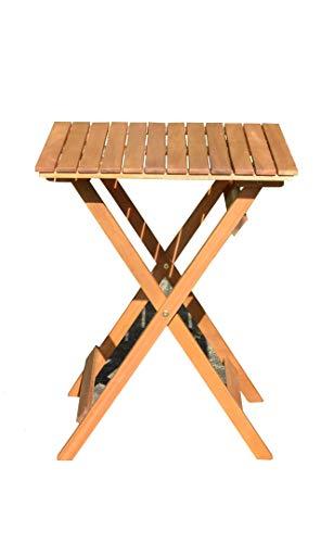 SEDEX Balkon Bistro Klapptisch Mod. Diego Eukalyptus Holz FSC Natur geölt B/T/H ca. 58/58/73