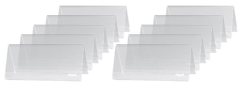 SIGEL TA138 Tischaufsteller Dachform 10er Pack für 9,5 x 4,2 cm - weitere Größen