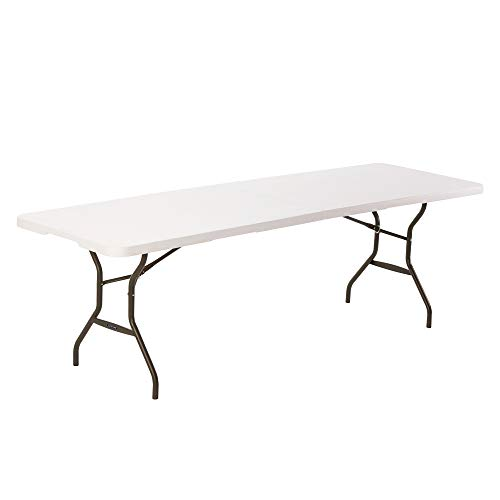 Lifetime 80270 Table Pliante en Deux 244 cm-Blanche, Blanc Granite, 244,5 x 76,1 x 73,6 cm