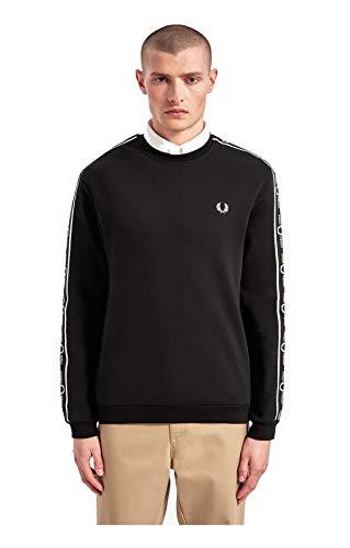 Fred Perry Taped Shoulder Sweatshirt, Sudadera - L