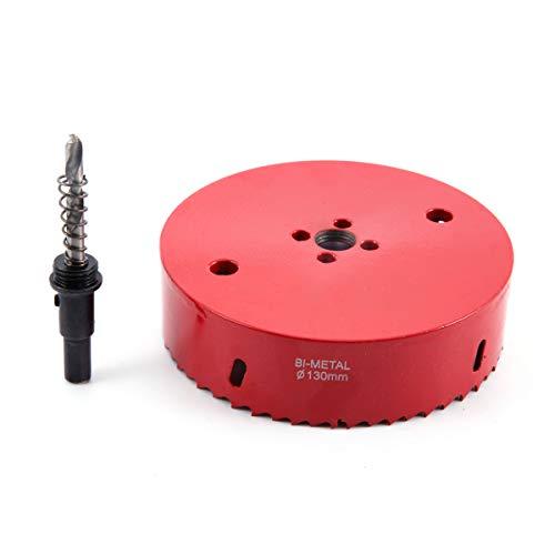 Lochsägenbohrer-Set, von SurePromise, strapazierfähig, Bimetall-Lochsäge, für Holz, Aluminium, Eisen, Rohr, Kunststoff, rot