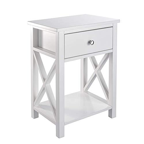 ASdf American Solid Wood Bedside Table European Carved All Oak Simple Bedside Cabinet Storage