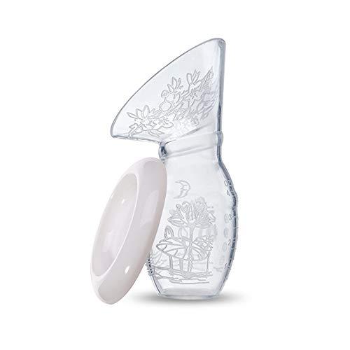 RTMOK Bomba manual de lactancia, 100% silicona de grado alimenticio, colector de leche materna, sin BPA, botella de leche para lactancia, colector de lactancia, potente bomba de succión para el pecho