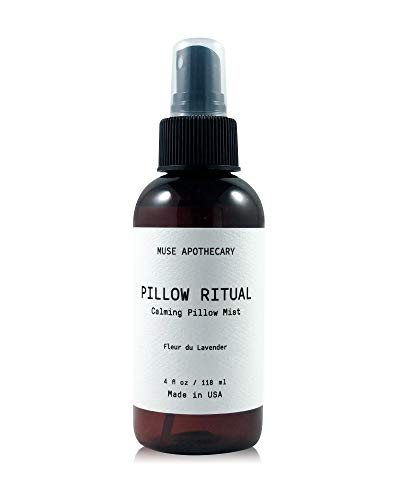 Muse Bath Apothecary Pillow Ritual - Aromatic and Calming Pillow Mist, 4 oz, Infused with Natural Essential Oils - Fleur du Lavender