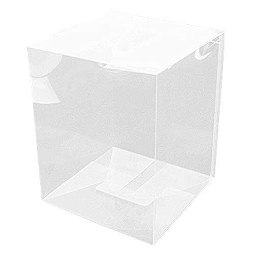クリア底ロック箱(NO36) 160×160×200mm◇100枚セット (クリアケース クリアーケース クリアボックス ギフトケース ギフトボックス ギフト箱 透明ケース 収納 ディスプレイケース 陳列ケース)