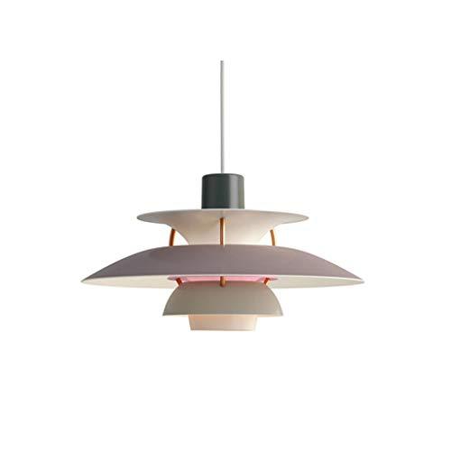 SioHopio Moderne Pendelleuchte Nordic PH5 Pendelleuchten Einfache E27 Führte Kronleuchter Dänische Designer Wohnzimmer-Hängende Deckenleuchten Schlafzimmer Restaurant Gradient Beleuchtung,B,50CM