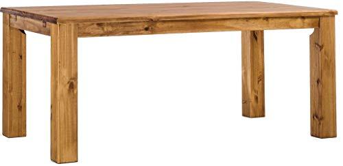 Brasilmöbel Esstisch Rio Classico 200x100 cm Brasil Massivholz Pinie Holz Esszimmertisch Echtholz Größe und Farbe wählbar ausziehbar vorgerichtet für Ansteckplatten