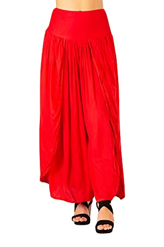 Glook Mujer Pantalones de Yoga Sueltos Harem Boho, Mujer Hippies Pantalones Largos Boho Cintura Alta Yoga...