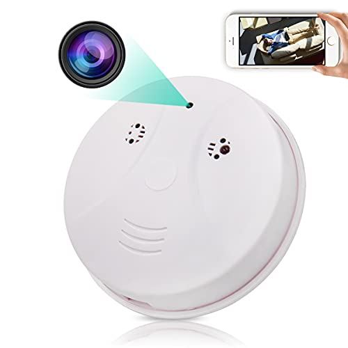 Hidden Camera Smoke Detector WiFi HD 1080p Wireless Mini Spy Camera with Motion Detection and Night Vision for Home Office Security