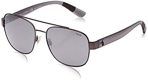 Polo 0PH3119 Gafas de sol, Rectangulares, 58, Semi Shiny Dark Gunmetal
