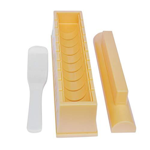 runnerequipment Kit de fabricación de sushi Deluxe Edition, espesar y oblongo redondo sushi Mold Set Sushi Maker algas marinas relleno de arroz juego de herramientas de sushi