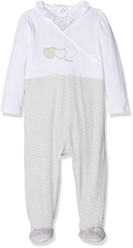 Chicco Baby-Mädchen Tutina Con Apertura Sul Patello Playsuit, Weiß (Naturale Stampato 064), 68 (Herstellergröße: 068)