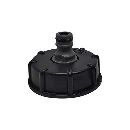 IBC Adapter Tank Anschlusszubehör,Düsenanschluss Gartenschlauch Verbinder Kunststoff Wasserschlauch Rohr Adapter Ersatzventil Fitting Teile,Import --60mm Grobgewinde,Export - 20 mm (3/4 Zoll) (4?)
